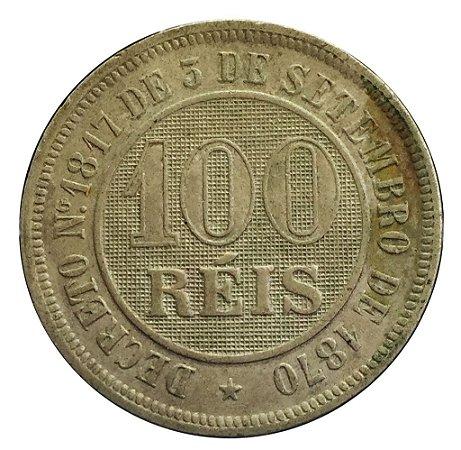 Moeda Antiga do Brasil 100 Réis 1886