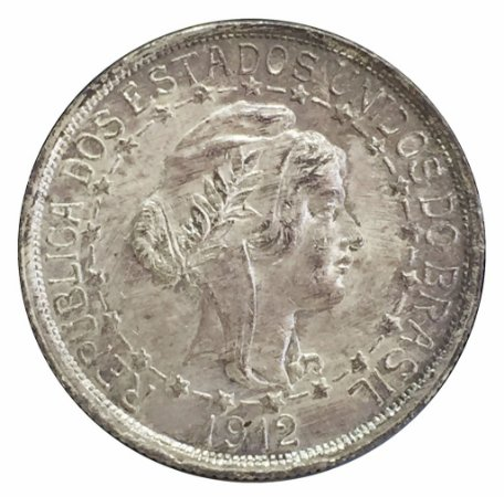 Moeda Antiga do Brasil 1000 Réis 1912 Estrelas Ligadas