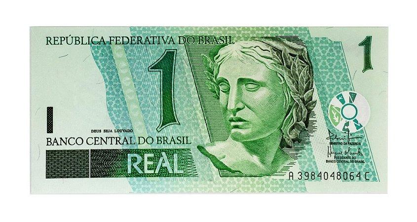 Cédula Antiga do Brasil 1 Real 2003
