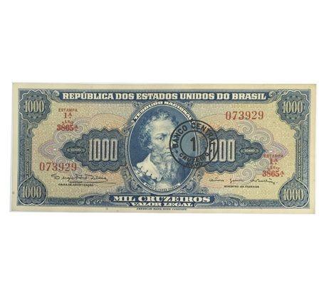 Cédula Antiga do Brasil 1 Cruzeiro Novo 1966