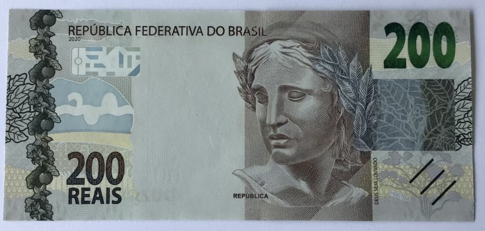 Cédula do Brasil 200 Reais 2020 - Lobo-Guará