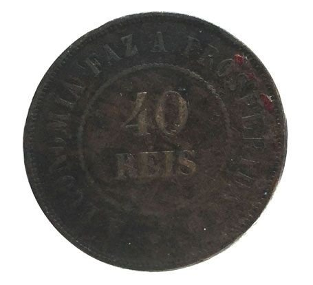 Moeda Antiga do Brasil 40 Réis 1911