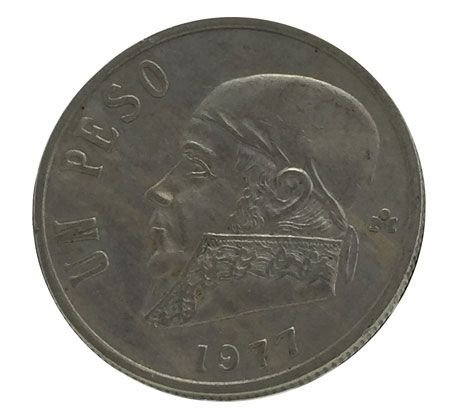 Moeda Antiga do México 1 Peso 1977