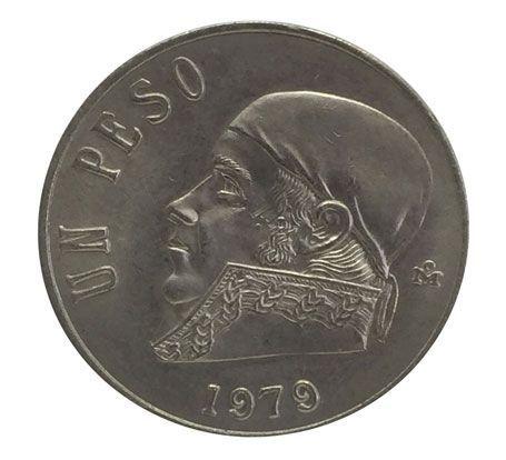 Moeda Antiga do México 1 Peso 1979
