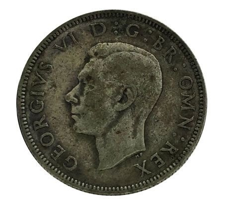 Moeda Antiga da Inglaterra 2 Shillings 1938