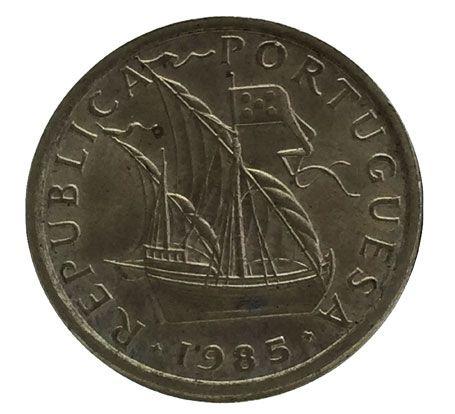 Moeda Antiga de Portugal 5 Escudos 1985