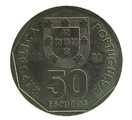 Moeda Antiga de Portugal 50 Escudos 1989