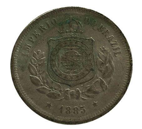 Moeda Antiga do Brasil 100 Réis 1885