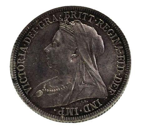Moeda Antiga da Inglaterra  1 Shilling 1899