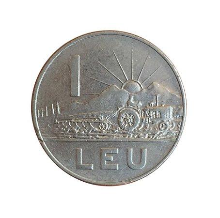 Moeda Antiga da Romênia 1 Leu 1966