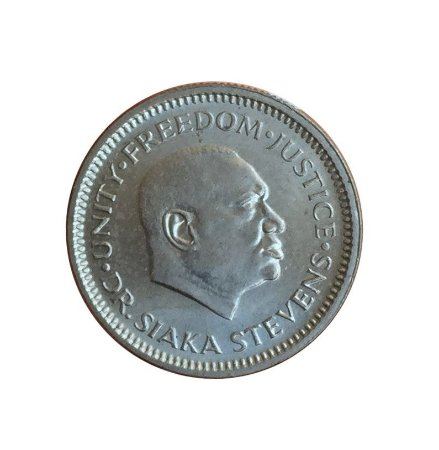 Moeda Antiga de Serra Leoa 5 Cents 1984