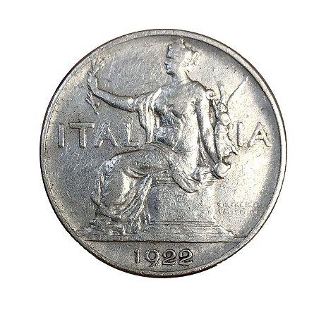 Moeda Antiga da Itália 1 Lira 1922