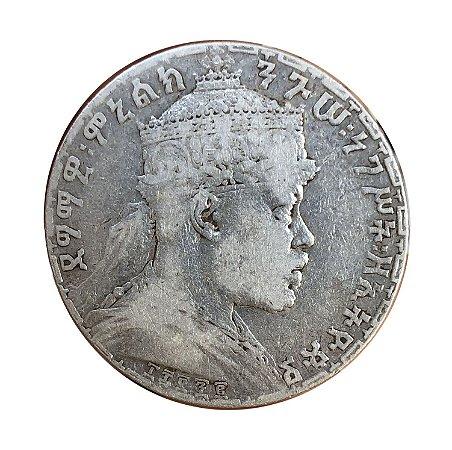 Moeda Antiga da Etiópia 1 Birr 1892