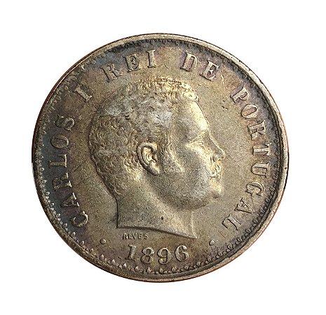 Moeda Antiga de Portugal 500 Réis 1896