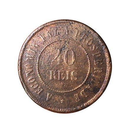 Moeda Antiga do Brasil 40 Réis 1898 - RARA