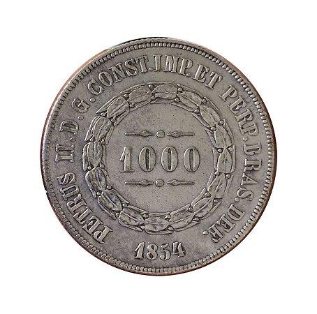 Moeda Antiga do Brasil 1000 Réis 1854