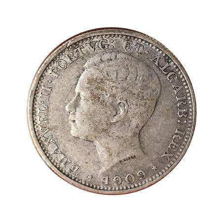 Moeda Antiga de Portugal 200 Réis 1909