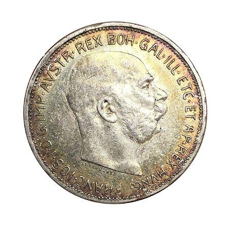Moeda Antiga da Áustria II Korona 1913 - Coroa Austro-Húngara