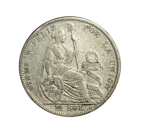 Moeda Antiga do Peru 1/2 Sol 1927