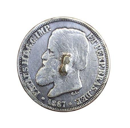Moeda Antiga do Brasil 200 Réis 1867