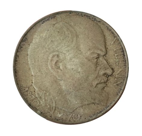 Moeda Antiga da Tchecoslováquia 50 Korun 1970 - Vladimir Lenin
