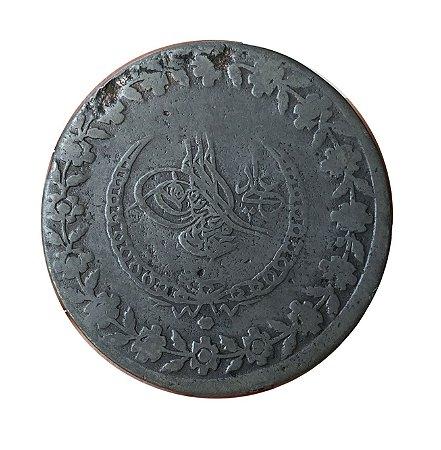 Moeda Antiga da Turquia 5 Kurus 1808 AH (1226) - Império Otomano
