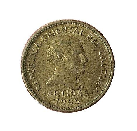 Moeda Antiga do Uruguai 1 Peso 1965