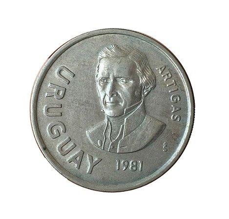 Moeda Antiga do Uruguai 10 Nuevos Pesos 1981