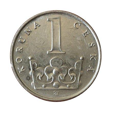 Moeda Antiga da República Tcheca 1 Koruna 1994