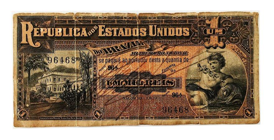 Cédula Antiga do Brasil 1000 Réis 1918