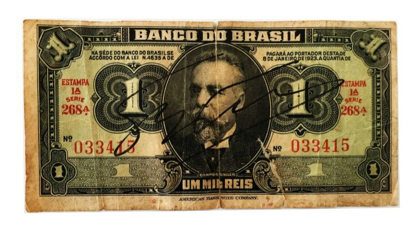 Cédula Antiga do Brasil 1000 Réis 1923