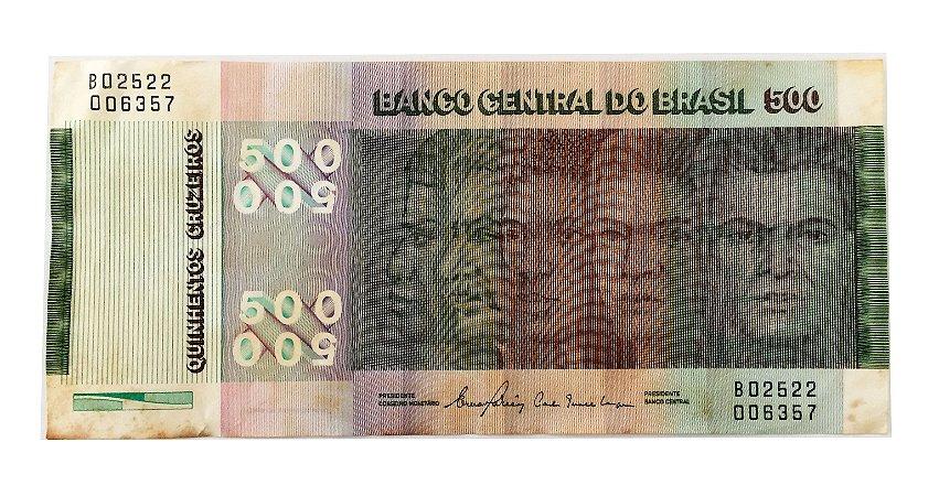 Cédula Antiga do Brasil 500 Cruzeiros 1980