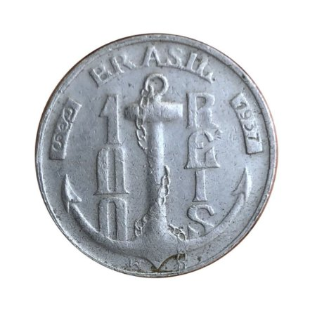Moeda Antiga do Brasil 100 Réis 1937 - Almirante Tamandaré