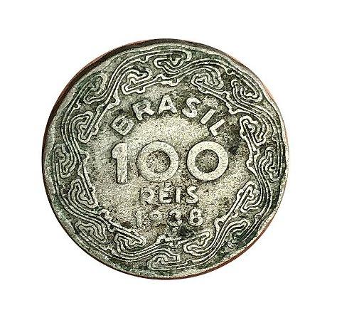 Moeda Antiga do Brasil 100 Réis 1938 - Getúlio Vargas