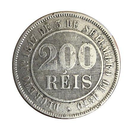 Moeda Antiga do Brasil 200 Réis 1888