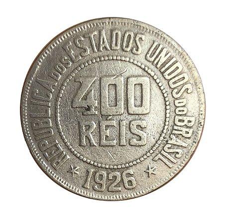 Moeda Antiga do Brasil 400 Réis 1926