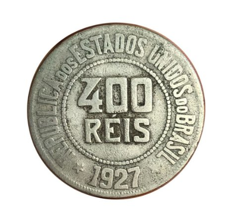 Moeda Antiga do Brasil 400 Réis 1927