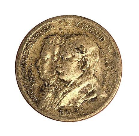Moeda Antiga do Brasil 1000 Réis 1922 - 1º Centenário da Independência do Brasil