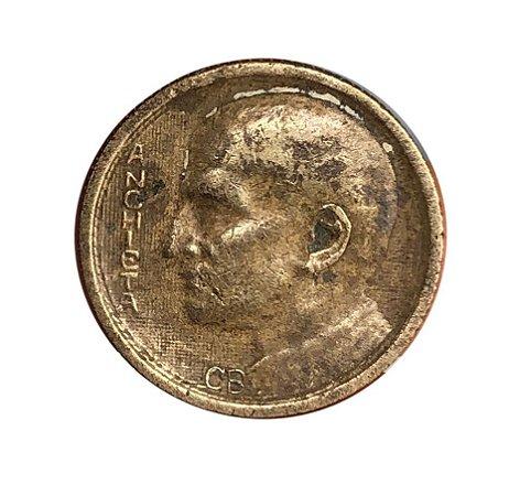 Moeda Antiga do Brasil 1000 Réis 1937 - José Anchieta