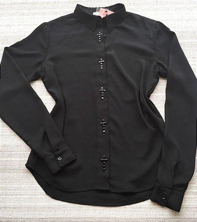 Camisa Preta Pedraria