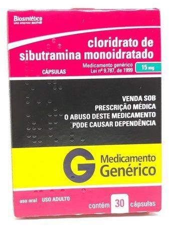 Sibutramina Generico 20mg 30 Comprimidos