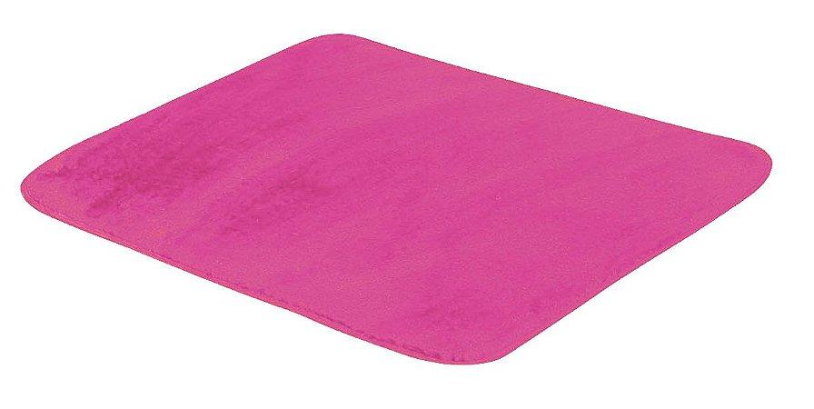 Tapete De Portas Para Sala Liso Pelúcia 0,70 X 0,50 Rosa