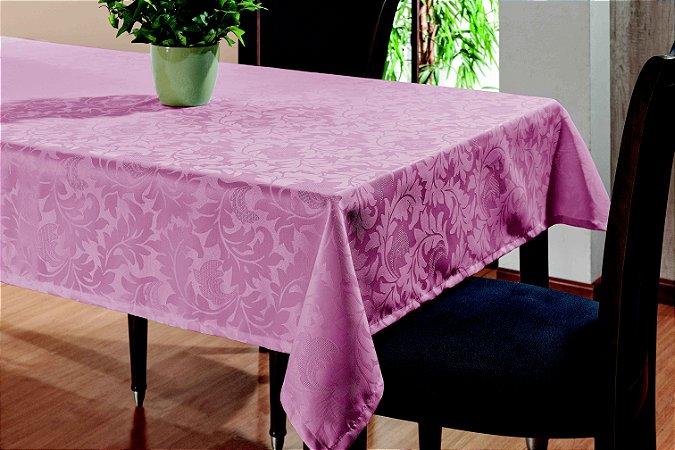 Toalha De Mesa Sala Jantar 2,20x1,45 em Tecido Jacquard Rosê