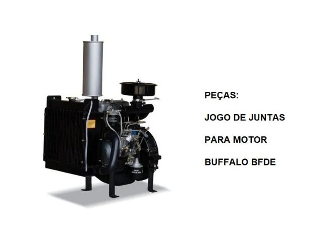 Jogo De Juntas 3385 P/ Motor Buffalo Diesel Bfde 01jogo
