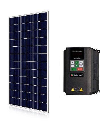 Kit Solartech Inversor PK7500H + 28 Painel Solar 340w para Bomba ate 7,5cv Trifasico 380v