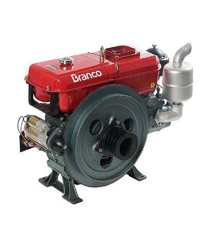 Motor A Diesel Branco 17,4cv Mt Bda-18.0t Refrigerado A Agua P. Manual