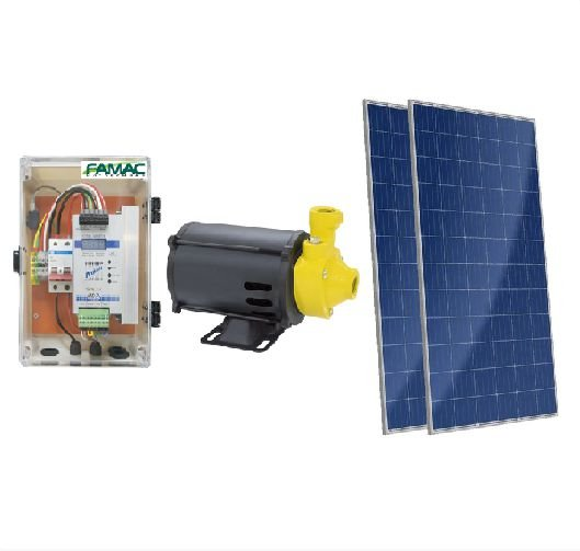 Kit Solar Bomba Centrifuga de Água Famac Fsp60-1 367w + 2 Placas