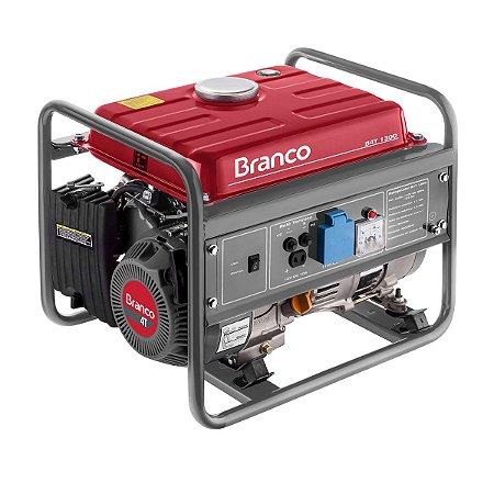 Gerador de Energia a Gasolina Branco B4T-1300 Monofasico 220v Partida Manual.