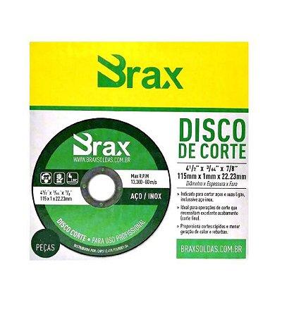 Disco De Corte Inox 4 1/2 X 3/64 X 7/8 Amarelo Brax L com 10 unidades