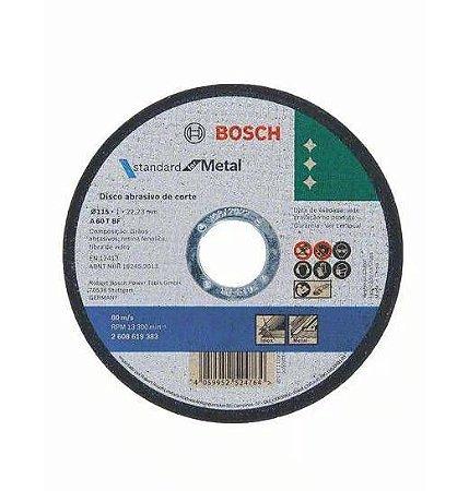Disco de Corte Bosch para Metal Inox Std 115X1x22,23mm 1 Unidade